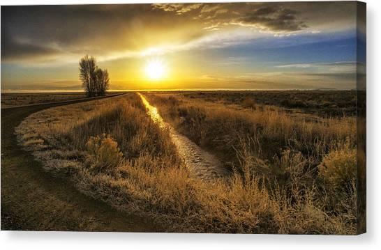 Sunrise At The Wildlife Refuge Canvas Print by David Soldano