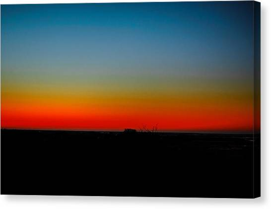 Sunrise At Turkey Point Dividing Creek New Jersey Canvas Print