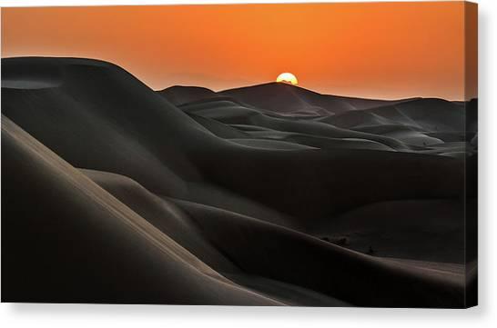 Iranian Canvas Print - Sunrise Behind The Mountains by Babak Mehrafshar (bob)
