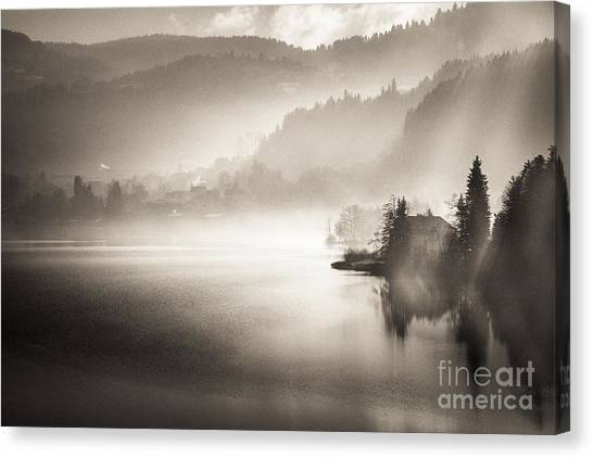Sunrise By The Lake Canvas Print