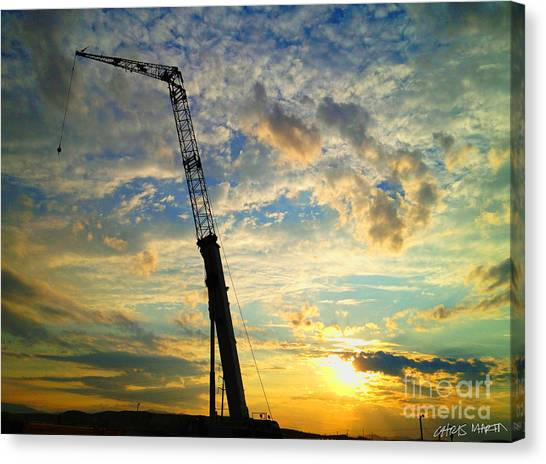 Jibbing Canvas Print - Sunrise by Chris Martin