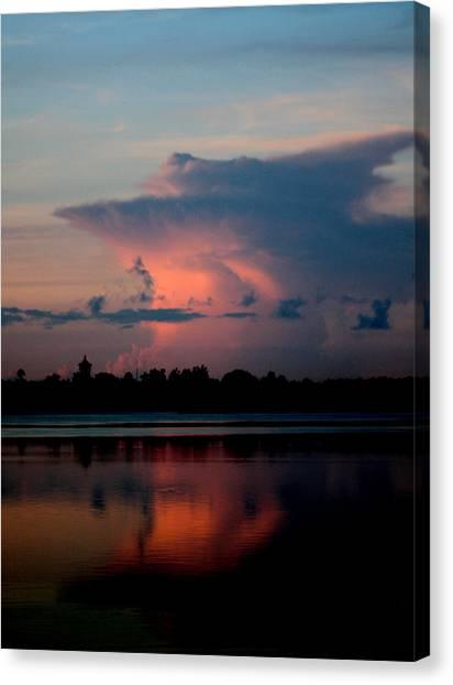 Sunrise Cloud Reflection Canvas Print