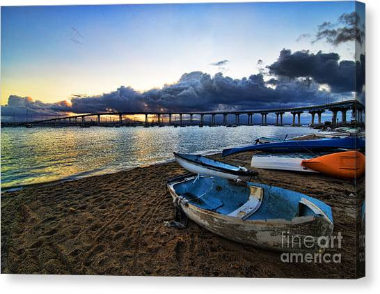 Sunrise - Coronado Bridge Canvas Print