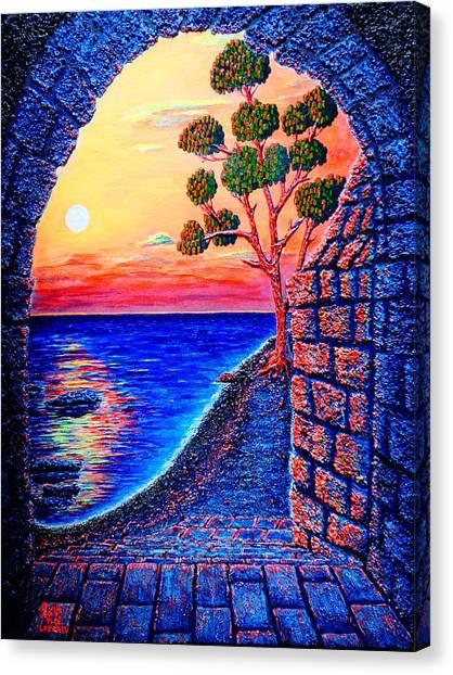 Sunrise Custle Canvas Print