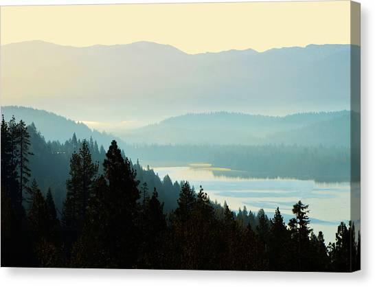 Sunrise Donner Lake California Canvas Print