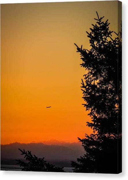 Sunrise Flight Departing Shannon Airport Canvas Print