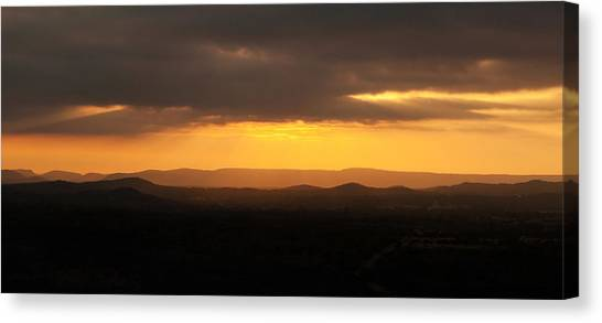Sunrise From Enchanted Rock Canvas Print