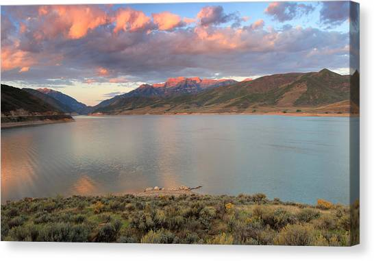 Sunrise From The Island At Deer Creek. Canvas Print