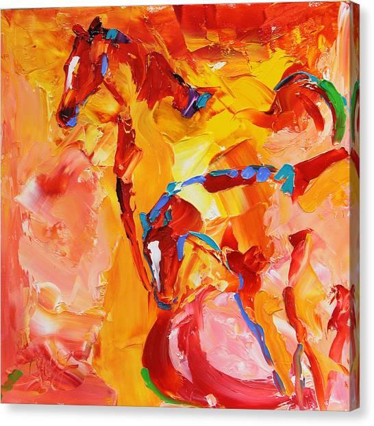 Canvas Print - Sunrise Graze Horse 25 2014 by Laurie Pace