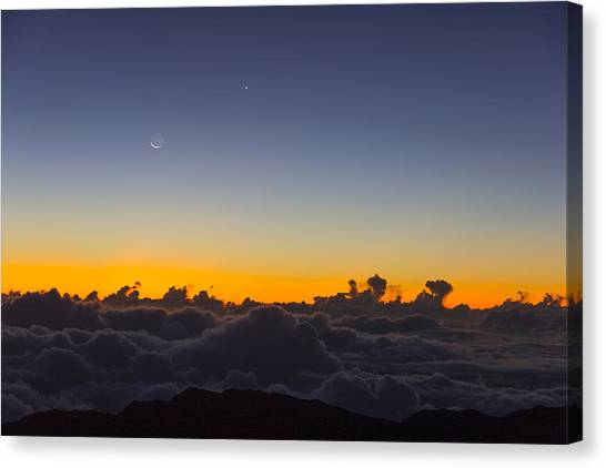 Sunrise Haleakala Volcano Canvas Print by Norman Blume