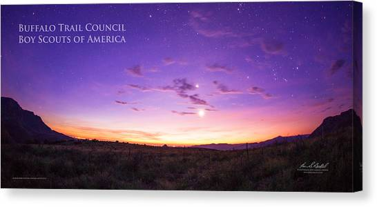 Boy Scouts Canvas Print - Sunrise Hike Btsr by Aaron Bedell