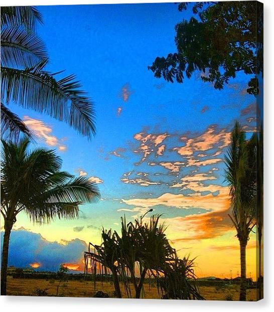 Ocean Sunrises Canvas Print - #sunrise #hnnsunrise #ocean #instapic by Andy Walters