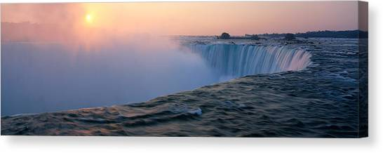 Horseshoe Falls Canvas Print - Sunrise Horseshoe Falls Niagara Falls by Panoramic Images