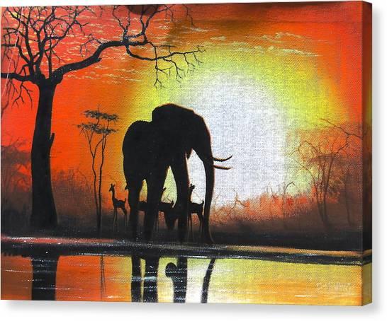 Sunrise In Africa Canvas Print