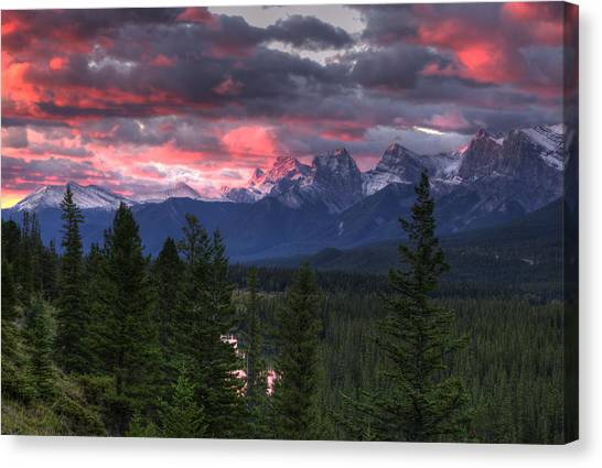 Sunrise In Banff Canvas Print