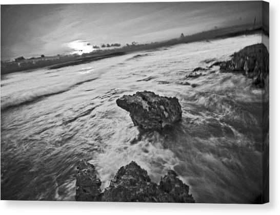 Sunrise In Black Canvas Print