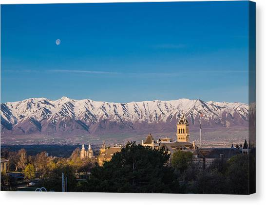 Utah State University Canvas Print - Sunrise In Cache Valley by Keith and Vicki Hambly