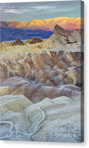 Contour Canvas Print - Sunrise In Death Valley by Juli Scalzi