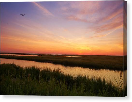 Sunrise In Jersey 4 Canvas Print
