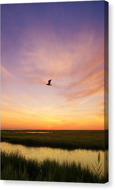 Sunrise In Jersey 5 Canvas Print