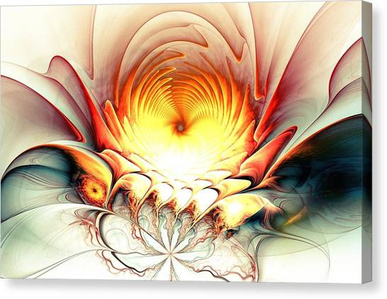 Canvas Print featuring the digital art Sunrise In Neverland by Anastasiya Malakhova