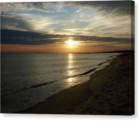 Sunrise In Norfolk Va Canvas Print