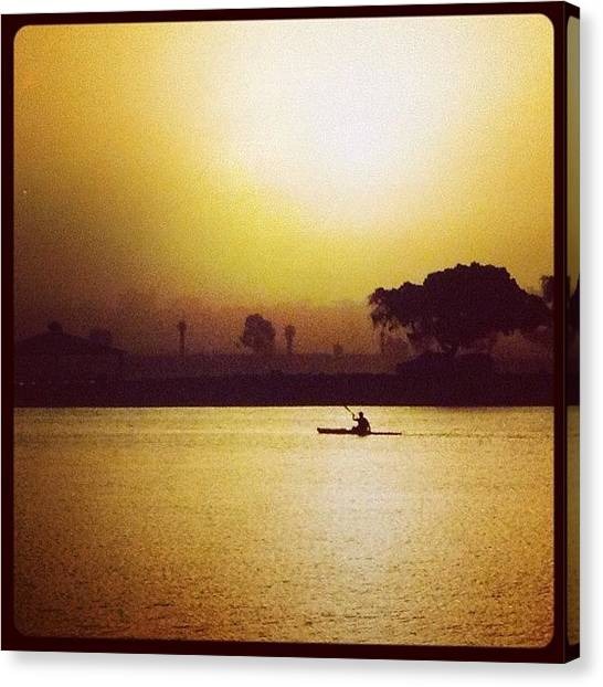Kayaks Canvas Print - Sunrise In Paradise by Go Inspire Beauty
