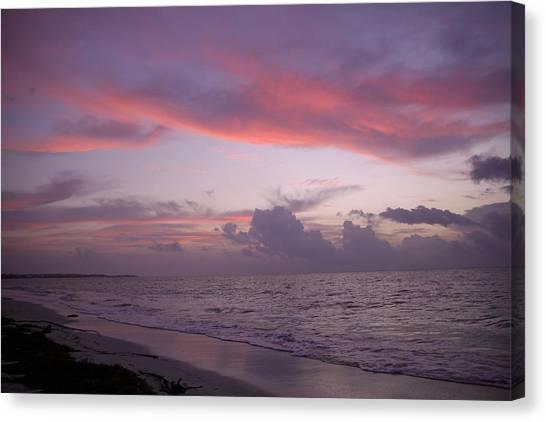 Sunrise In Riviera Maya Canvas Print by Dave Dos Santos