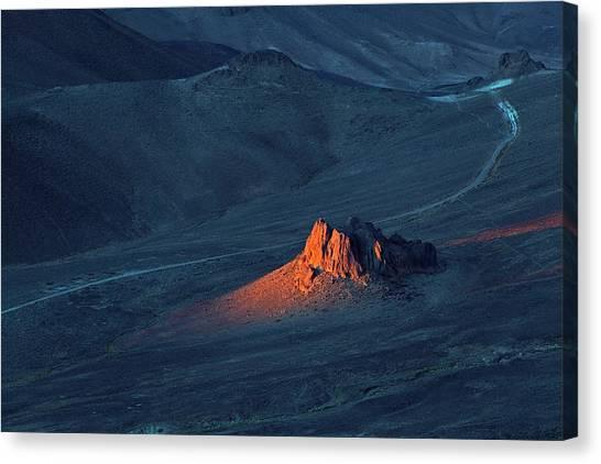 Sahara Desert Canvas Print - Sunrise In Saharan Mountains by Martin Rietze