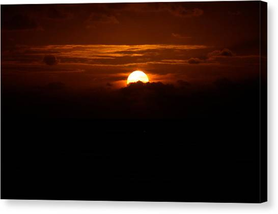 Sunrise In The Clouds Canvas Print
