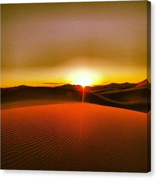 Sahara Desert Canvas Print - Sunrise In The Sahara by Devaughn Hughson