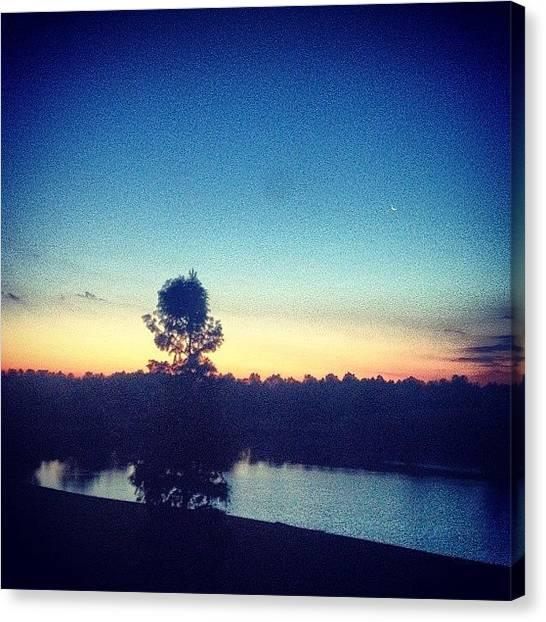 Lake Sunrises Canvas Print - #sunrise #lake #delta #mississippi by Noah Lelek