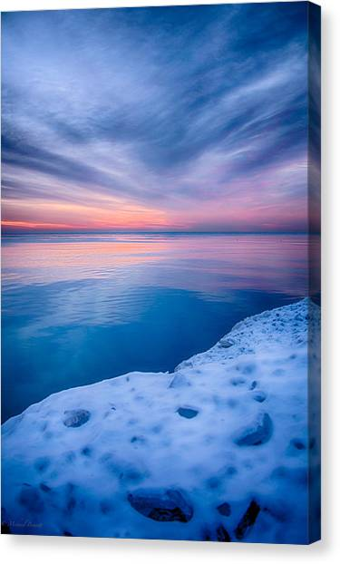 Sunrise Lake Michigan 12-19-13 2 Canvas Print