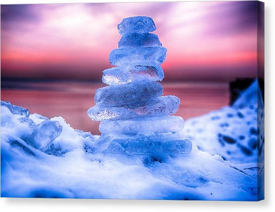 Sunrise Lake Michigan 12-19-13 3 Canvas Print