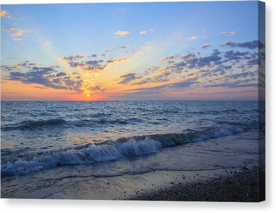 Sunrise Lake Michigan August 10th 2013 004 Canvas Print
