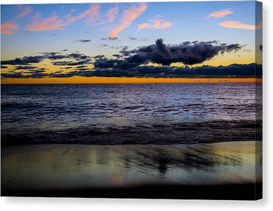 Sunrise Lake Michigan September 14th 2013 003 Canvas Print