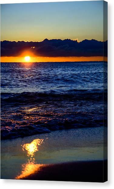 Sunrise Lake Michigan September 14th 2013 021 Canvas Print