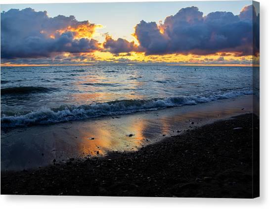 Sunrise Lake Michigan September 2nd 2013 002 Canvas Print