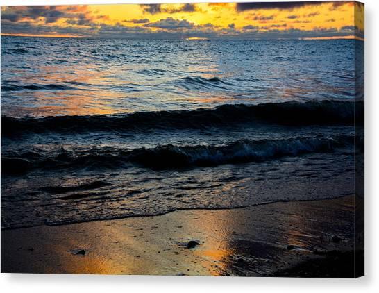Sunrise Lake Michigan September 2nd 2013 003 Canvas Print