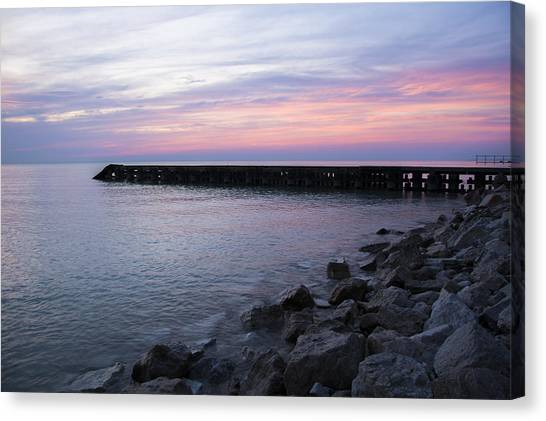 Sunrise Lake Michigan September 7th 2013 002 Canvas Print