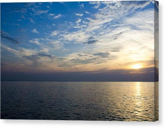 Sunrise Lake Michigan September 7th 2013 003 Canvas Print