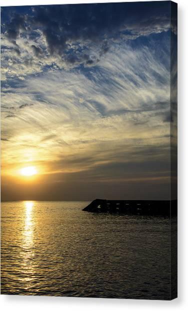 Sunrise Lake Michigan September 7th 2013 004 Canvas Print