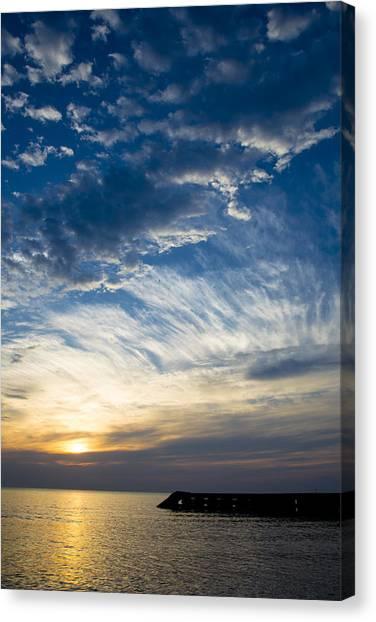 Sunrise Lake Michigan September 7th 2013 009 Canvas Print