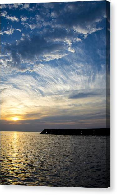 Sunrise Lake Michigan September 7th 2013  Canvas Print