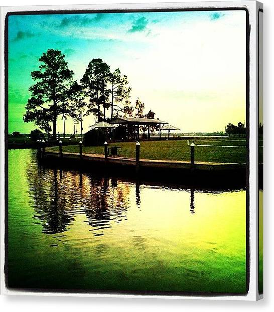 Sunrise Canvas Print - Sunrise Memories!!! #igersoflouisiana by Scott Pellegrin