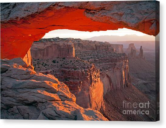 Sunrise Mesa Arch Canyonlands National Park Canvas Print