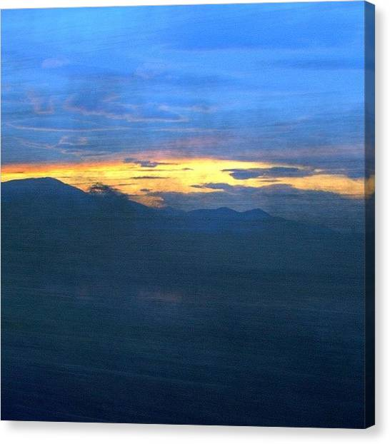 Sunrise Horizon Canvas Print - #sunrise #morning #movement #blur by Mariana Mincu