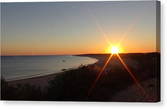 Sunrise Near Broome  Australia Canvas Print