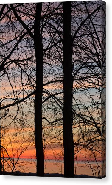 Sunrise Of Lake Huron Canvas Print by Rhonda Humphreys