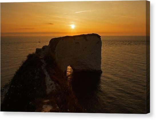 Sunrise Old Harry Rocks Canvas Print